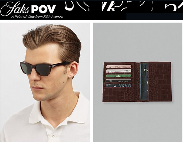 The Graphic Image Passport Wallet Featured in Saks POV