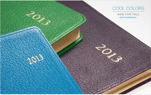 cool colors datebooks