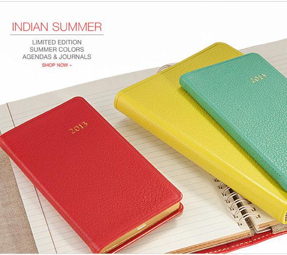 Custom colored datebooks and journals