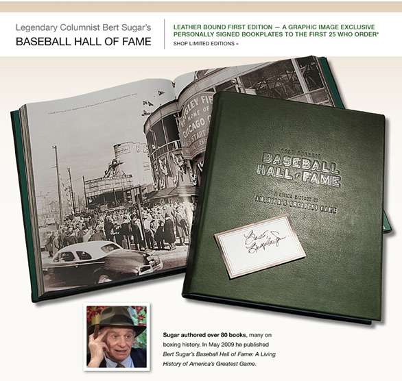 Limited Edition Leather Bound Baseball Hall of Fame book and receive a bookplate signed by the author!