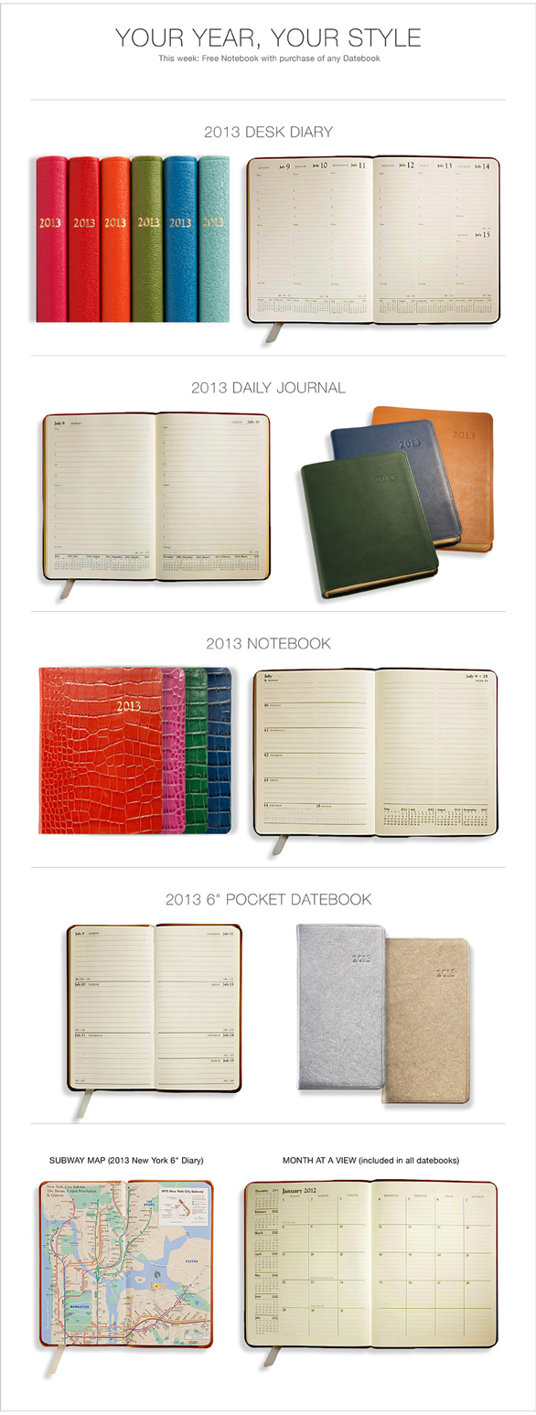 2013 Leather Planner Styles