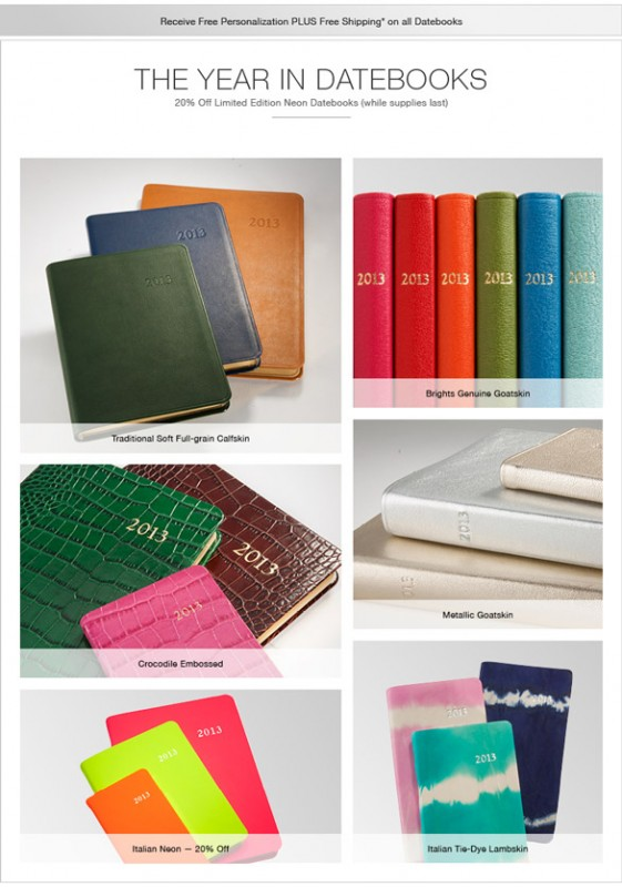 2013 Leather Datebooks